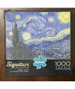 Buffalo Signature Collection Photomosaic Van Gogh Starry Night 1000 Pc P... - $12.13