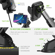 Cellet QI Wireless Fast Charge Phone Mount Dashboard Air Vent for iPhone Note 10 image 6