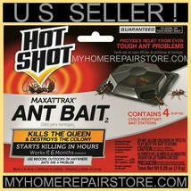 8 / $8 — 2 PACKS OF 4 — HOT SHOT — MAXATTRAX — ANT BAIT STATIONS —INDOOR... - $7.92