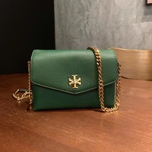 Authentic Tory Burch KIRA MIXED-MATERIALS MINI BAG green - $278.00