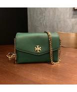 Authentic Tory Burch KIRA MIXED-MATERIALS MINI BAG green - $278.00