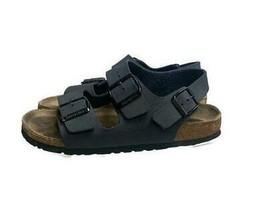 Birkenstock Milano Two Strap Sandals Back Strap Shoes Size 39 Navy - €51,02 EUR