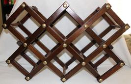 Vintage Accordion Style Folding Wine Rack Brown... - $14.99