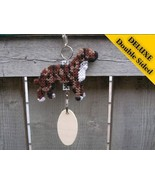 Staffordshire Bull Terrier Deluxe crate tag art... - $22.00