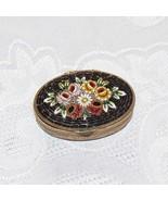 Micro Mosaic Floral Design Miniature Ring Box. - $22.00