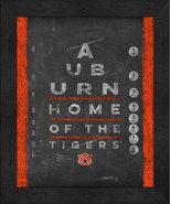 "Auburn Tigers 13x16 College ""Chalkboard Look Eye Chart"" Framed Print - $39.95"