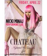 NICKI MINAJ Live @ CHATEAU Nightclub Las Vegas Promo Card - $1.95