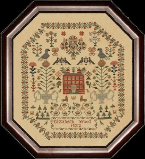 Elizabeth Wood 1822 cross stitch chart With My Needle