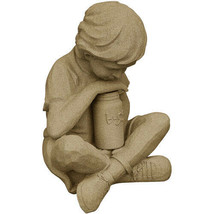 Nature Boy Statue – Natural Sandstone Appearance – Made of Resin – 16 inch - €50,60 EUR