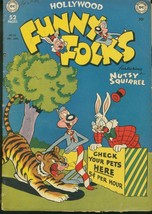 FUNNY FOLKS #23 UNUSUAL TIGER COVER - RARE GOLDEN AGE FR - $31.53