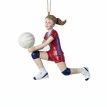 KURT ADLER RESIN VOLLEYBALL GIRL PLAYER SETTING BALL CHRISTMAS TREE ORNA... - $12.88
