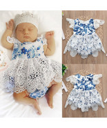 Newborn Baby Kids Girl Romper Lace Floral Jumpsuit Outfits Flower Summer... - $32.90