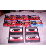 10 TDK AND MEMOREX ETC 60 AND 90 MIN BRAND NEW CASSETTES - $5.99