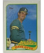 1989 Topps #131 Dave Otto Oakland Athletics Baseball Card - $2.44