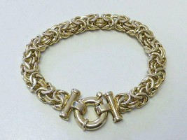 Vintage UTC ITALY Byzantine Sterling Silver Gold Vermeil Bracelet 19.6 Gram - $56.99