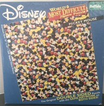 Disney Mickey Mouse World's Most Difficult Double Sided 500 pc Jigsaw Pu... - $29.03
