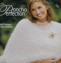 Leisure Arts Poncho Perfection Knitting Ladies 4 Patterns Book 3976 Size... - $12.71