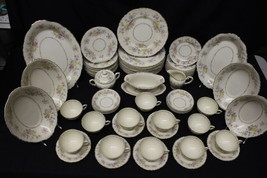 73 Pc Vintage Syracuse Federal Shape China BRIARCLIFF Floral Service for... - $499.99