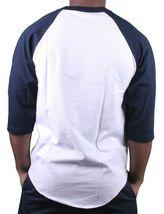 Motivation Ann Arbor Mens Navy White Hiding Mascot 3/4 Sleeve Raglan T-Shirt NWT image 3