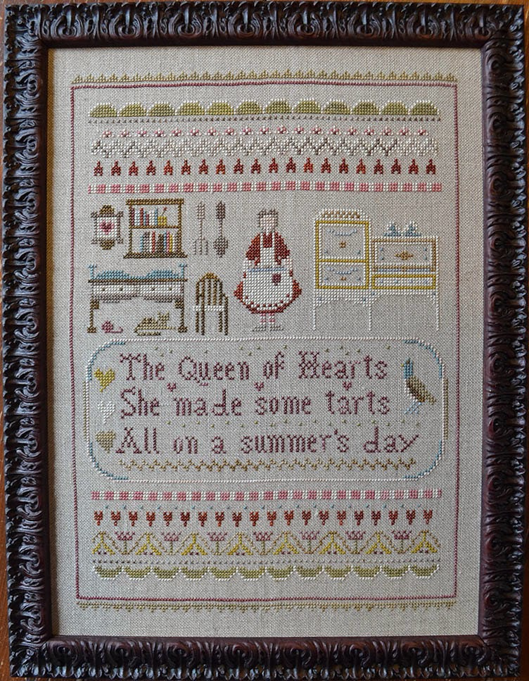Queen Of Hearts cross stitch chart Shakespeare's Peddler