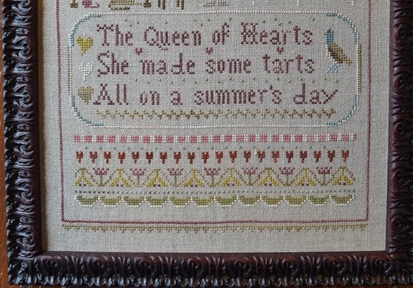 Queen Of Hearts cross stitch chart Shakespeare's Peddler image 3