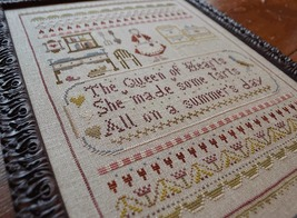 Queen Of Hearts cross stitch chart Shakespeare's Peddler image 4