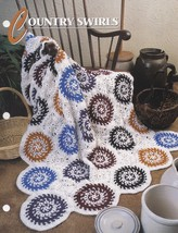 Country Swirls, Annie's Crochet Quilt and Afghan Pattern Club Leaflet QA... - $2.95