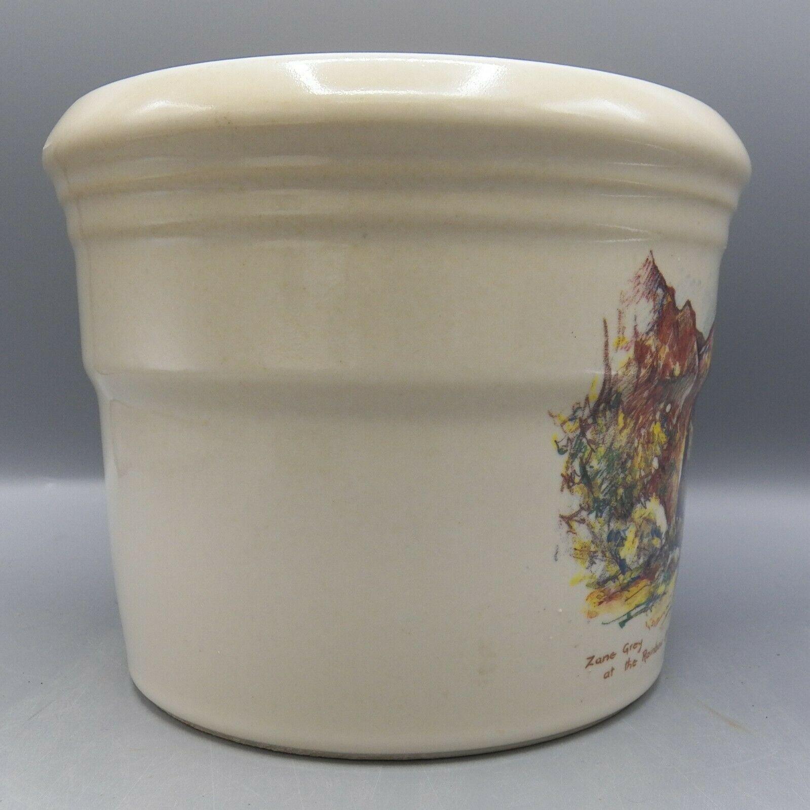 Zanesville Stoneware Zane Grey At Rainbow Bridge Leslie Cope Vase Pot Pottery image 9