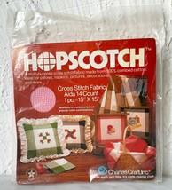 "Charles Craft 14 Count Pink Hopscotch Cross Stitch Fabric 100% Cotton 15"" x 15"" - $6.60"