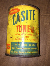 Vintage 1940s Casite Tune Up Metal Can Rough Patina Unopened with Solder... - $17.37