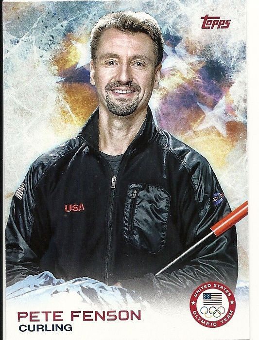 2014 US Winter Olympics Pete Fenson #32 -USA Curling-