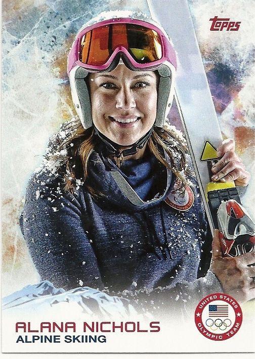 2014 US Olympic Alana Nichols Alpine Skiing #66