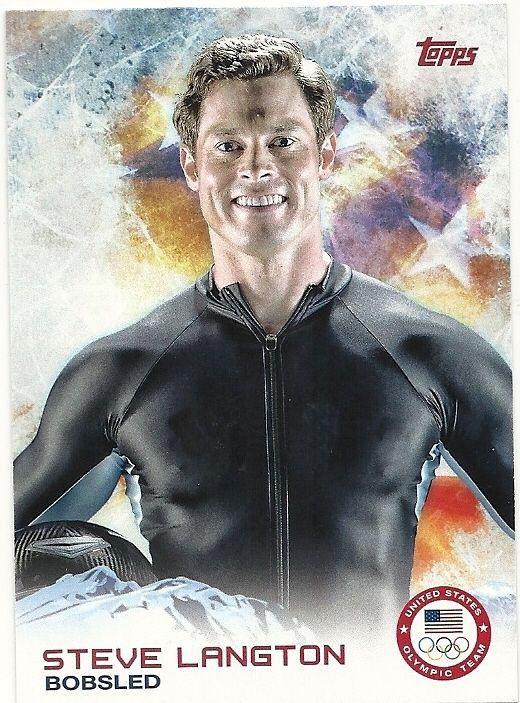 2014 US Olympic Steve Langton Bobsled #55