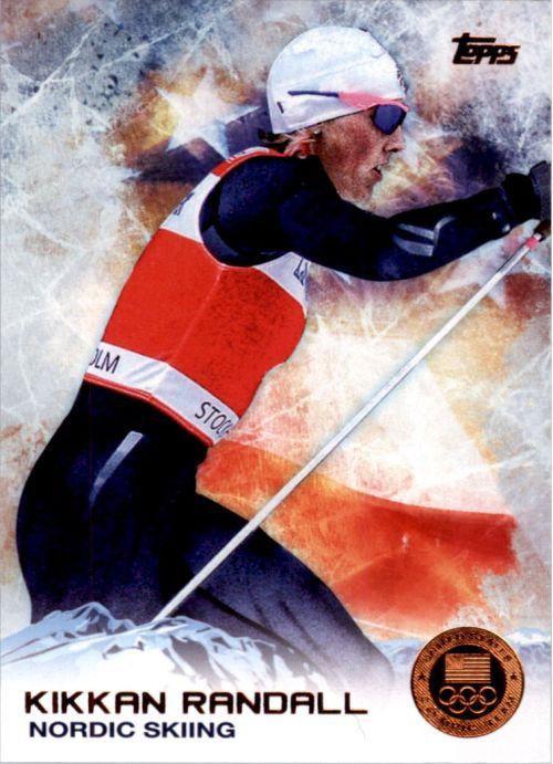 2014 Topps Winter Olympics Bronze Medal #70 Kikkan Randall Nordic Skiing