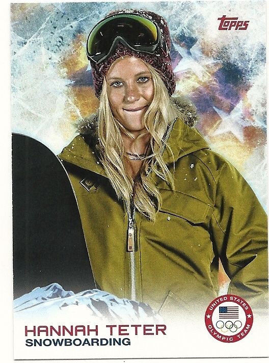 2014 US Olympic Hannah Teter Snowboarding #82