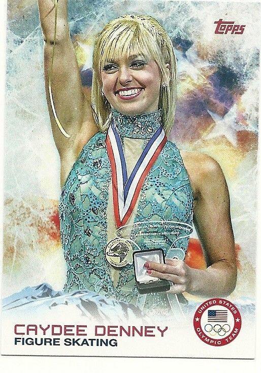2014 Topps Winter Olympics CAYDEE DENNEY #25 Figure Skating