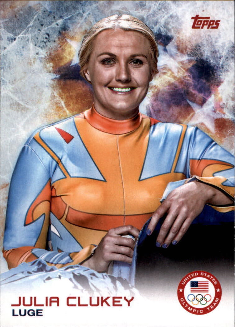 2014 Topps U.S.A. Winter Olympics #16 Julia Clukey Luge