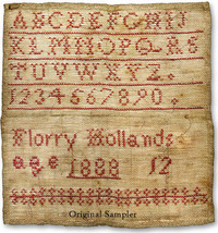 Florry Hollands 1888  cross stitch chart Pineberry Lane image 3