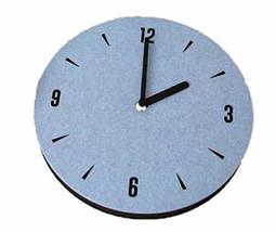 thehaki Sandwich Interior Felt Non-Ticking Analog Wall Clock Sky Blue