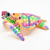 Handmade Oaxacan Copal Wood Carving Painted Sea Turtle Marine Figurine image 3