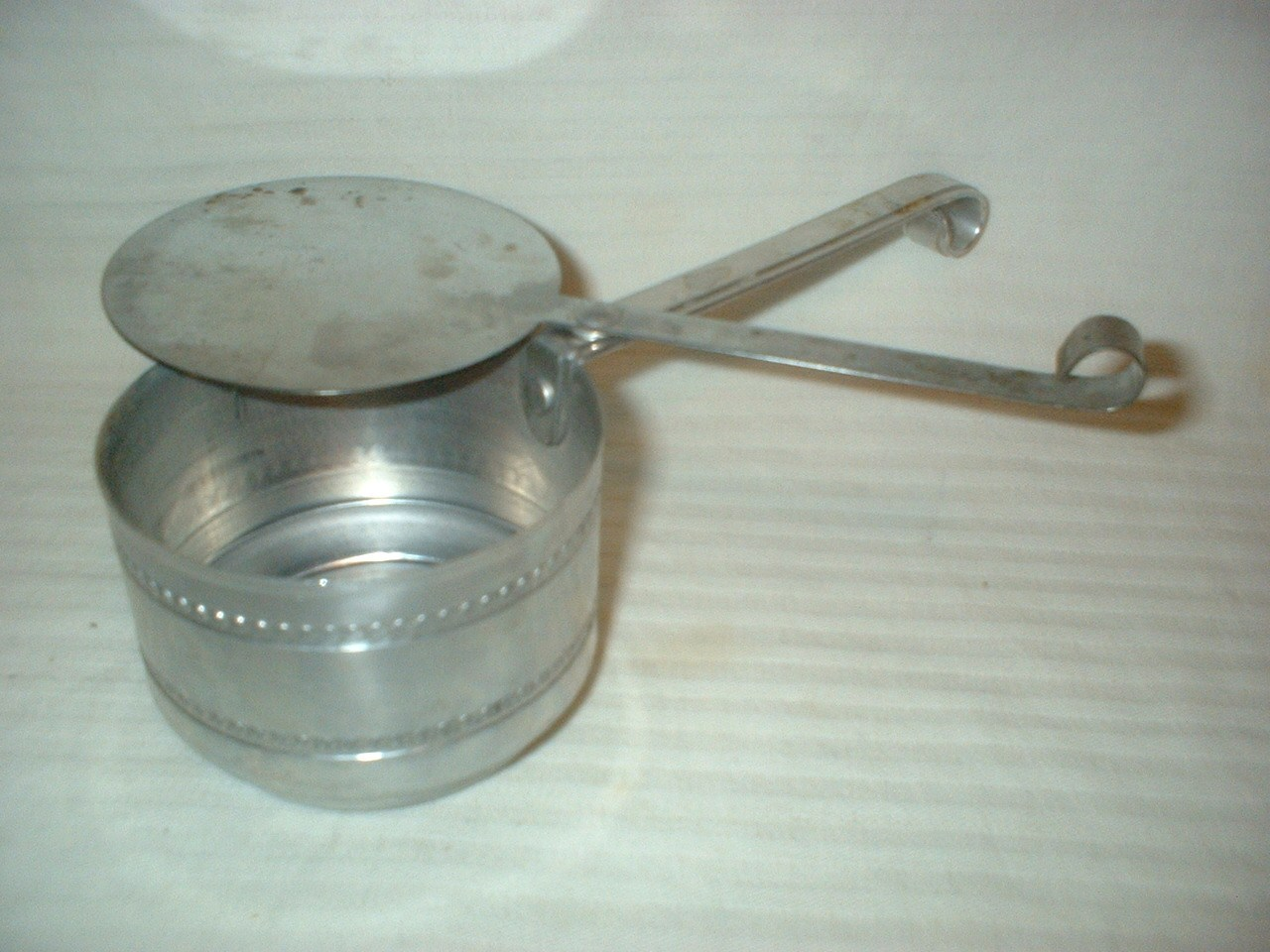 Vintage sterno holder aluminum buffet dish warmer can of for Sideboard petrol