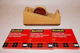 Vintage 3M Scotch C-25 Tape Dispenser Model 28000 W/ (3)Three Sealed Tap... - $22.03