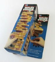 Vintage Milton Bradley Jenga Wood Block Stacking Game, 1986, Complete - £9.30 GBP