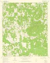 Topo Map - Ashland Texas Quad - USGS 1962 - 23.00 x 28.79 - $36.58+
