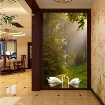 Beibehang home decor murals wall paper Couple forest entrance wallpaper for wall - $35.95