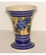 "Polish Unikat ('unique"" in Polish) Pottery Vase Signed and Numbered - $27.00"