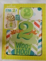 "NEW Hallmark ""I'm 2"" Toddler Crown & Bib Set Fun 4 Photos unisex Birthda... - $7.43"