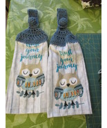 Brand New Crochet Top Kitchen Towels Trust Your Journey - Blue Top - $10.99
