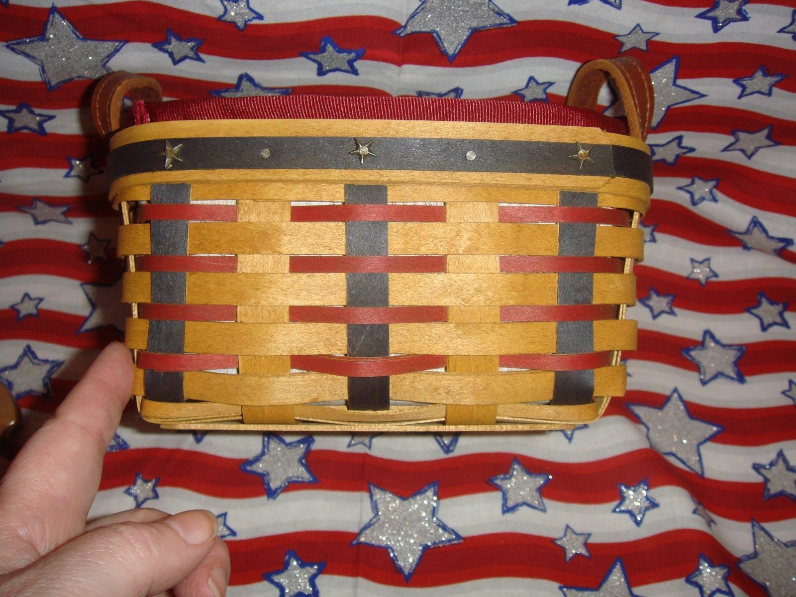 Primary image for Longaberger 2004 Proudly American Medium Berry Basket Combo