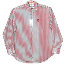 Oklahoma Sooners Thomas Dean Mens Dress Shirt Size XL White Red Blue Str... - $74.00